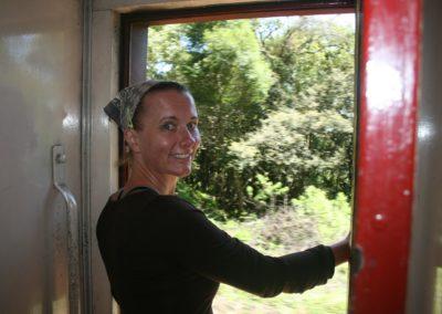 Janine in de trein